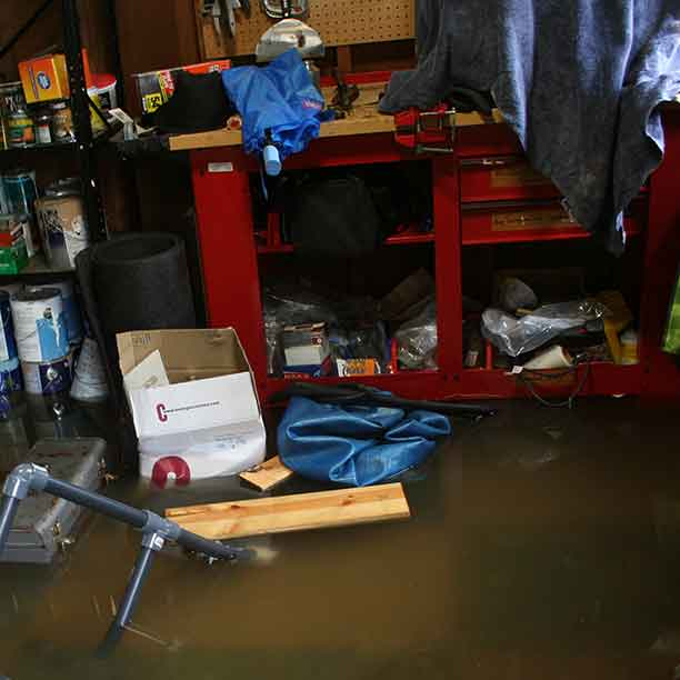"My own flooded ""man cave."""