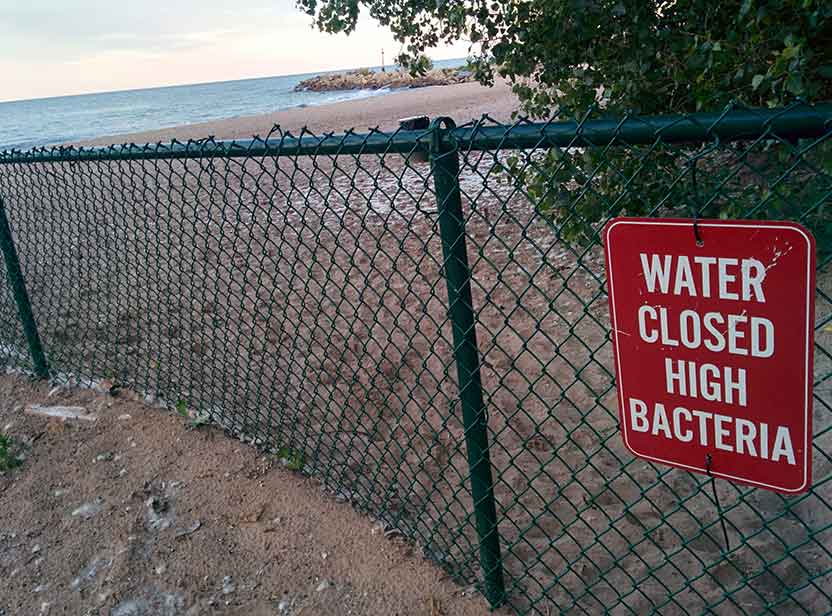 Gillson Beach closed due to high bacteria levels, June 16, 2015.