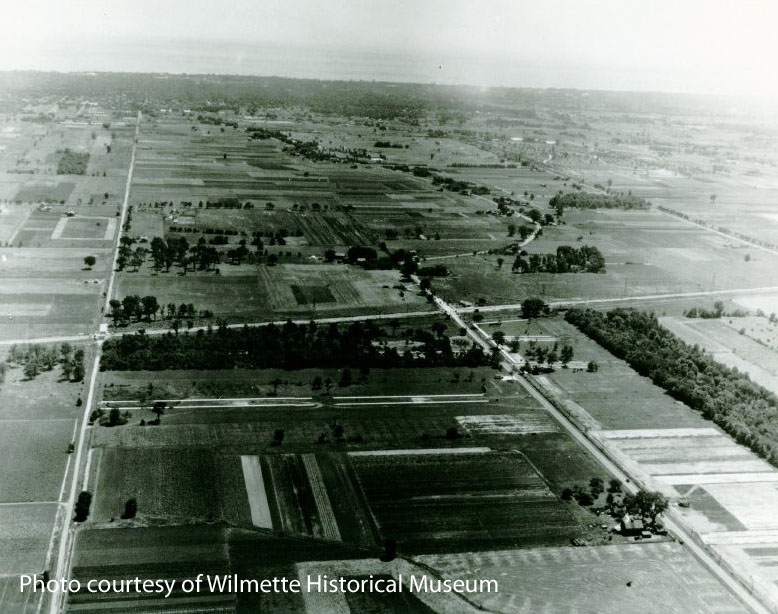 Westside Wilmette in 1926 (Photo #c46, from the Wilmette Historical Museum)
